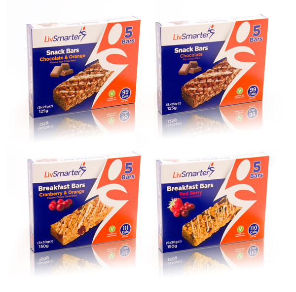 LivSmarter Snack Bars packaging designed by Collective Creative