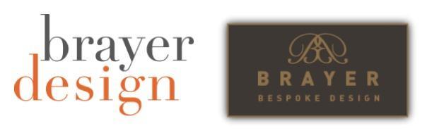 Brayer old logo and new logo