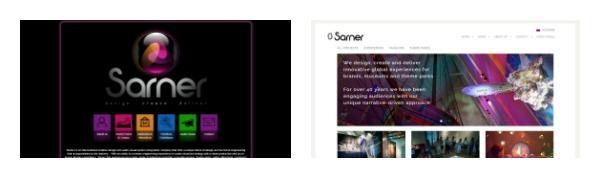 Sarner old website new website