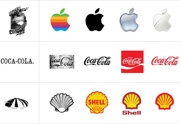 Logo changes - apple, coca cola, shell oil